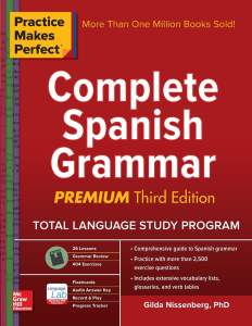 کتاب گرامر اسپانیایی Practice Makes Perfect Complete Spanish Grammar