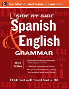 کتاب اسپانیایی Side by Side Spanish and English Grammar